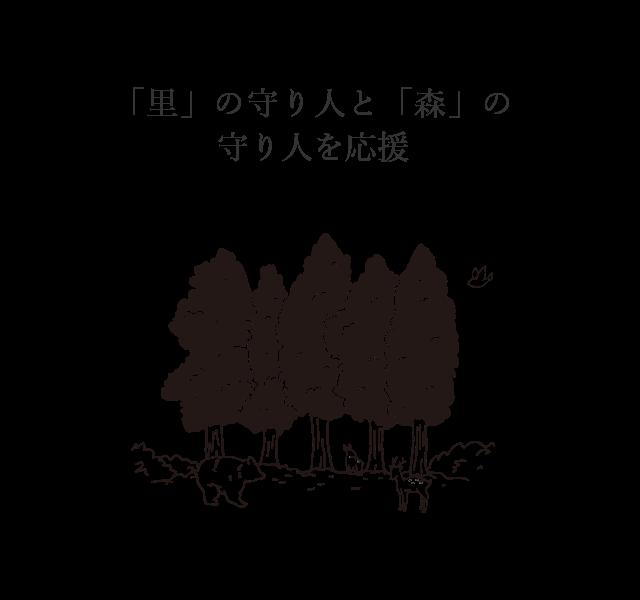 「里」の守り人と「森」の守り人を応援